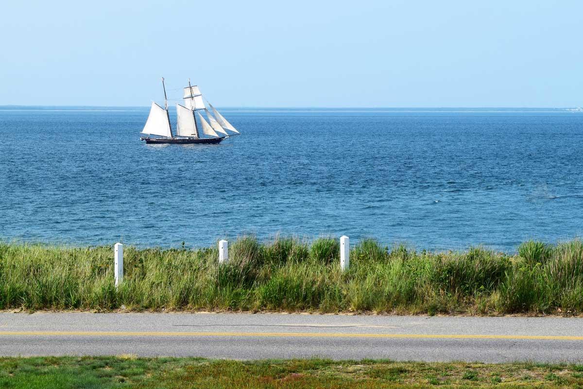 tall ship off the coast of Cape Cod MA