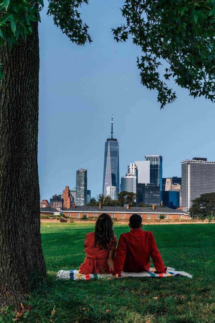 the perfect picnic spot on Governors Island