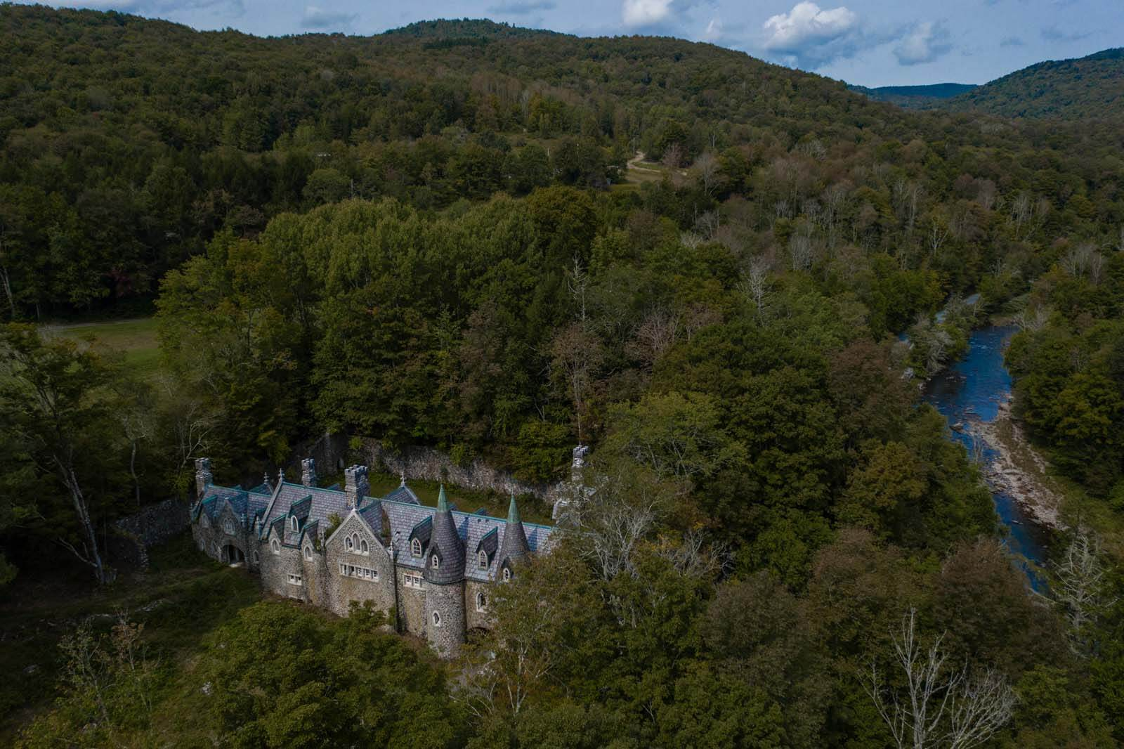 Dundas Castle aka Craig E Clair Castle in New York Roscoe Catskills
