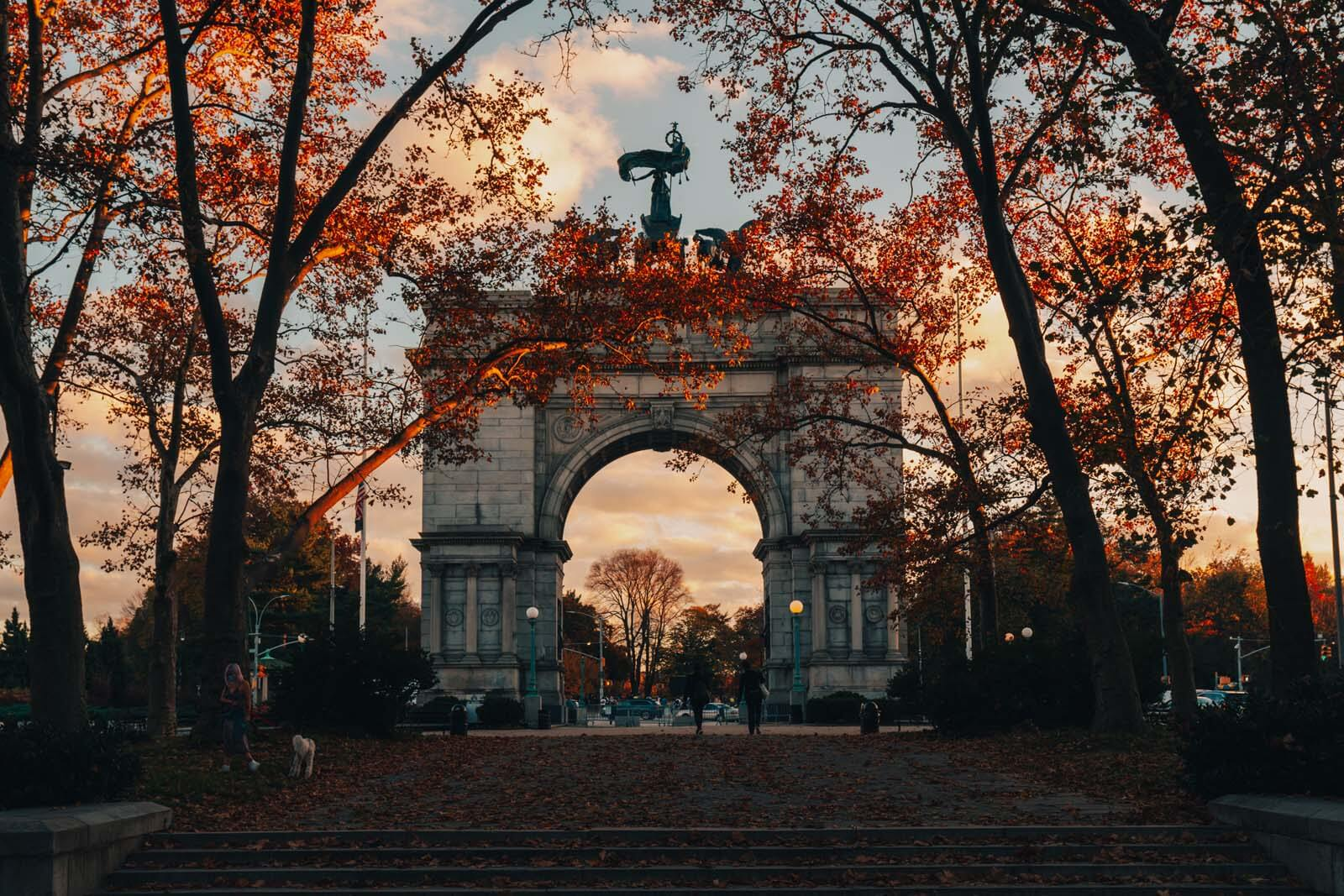 Grand Army Plaza in Brooklyn in the fall