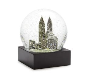 saks fifth avenue small new york city snow globe