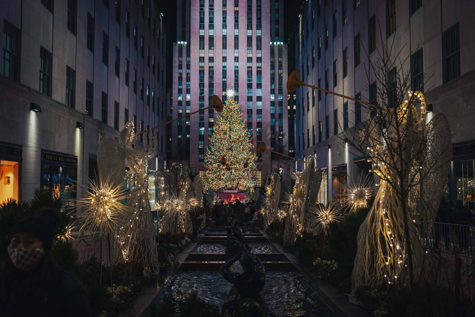 Rockefeller Center Christmas Tree in Manhattan NYC