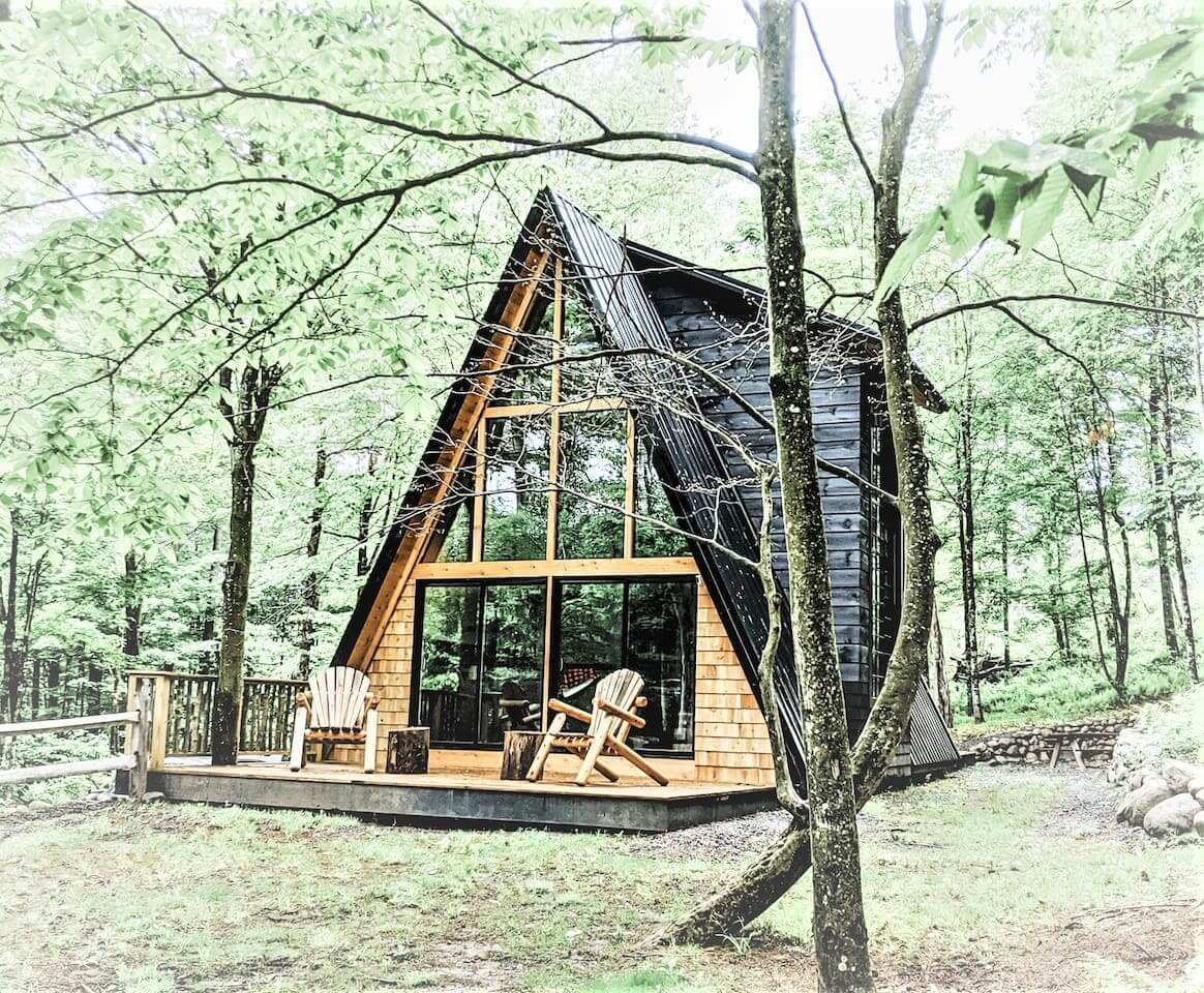 A Frame cabin rental in upstate new york in remsen