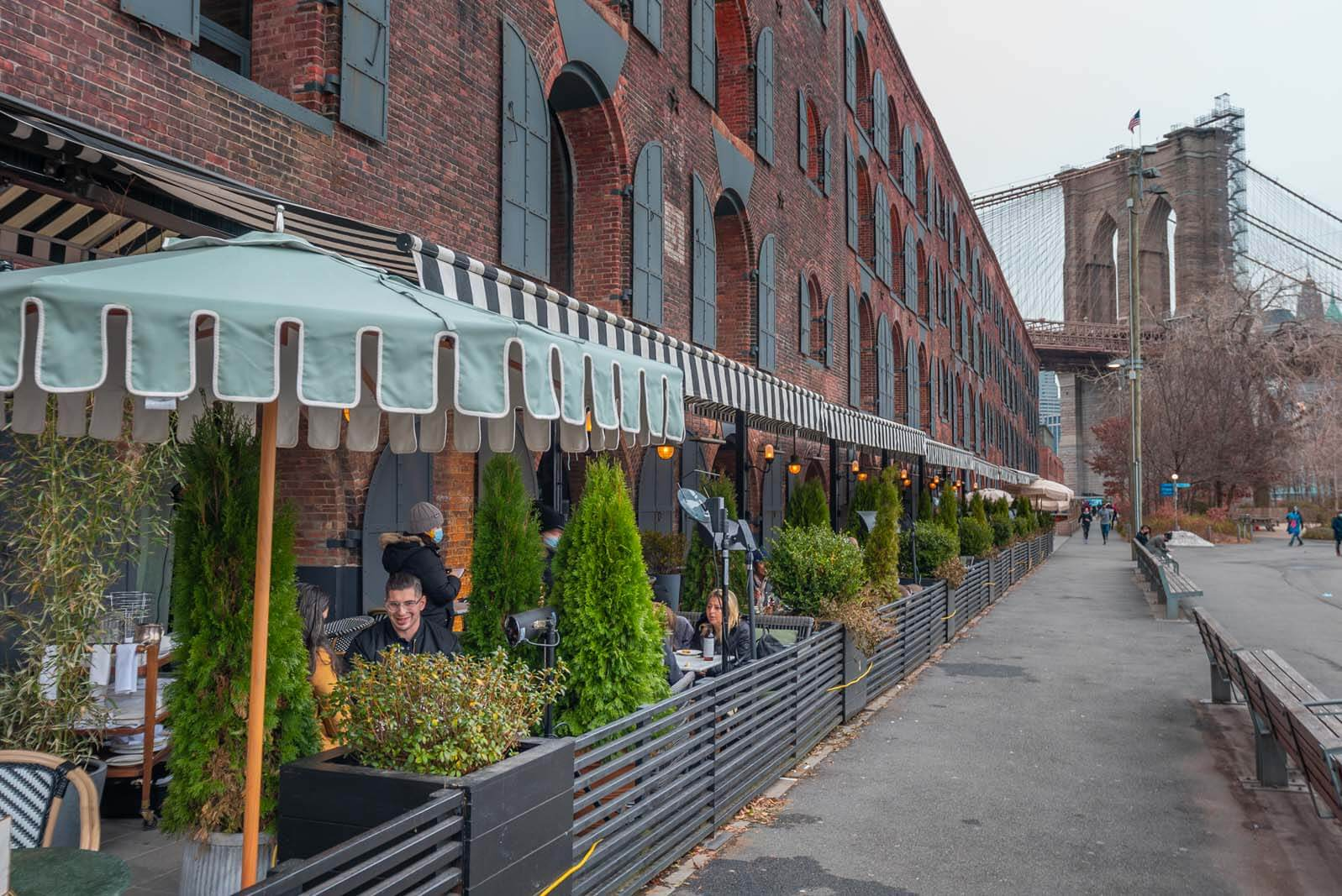 Cecconis outdoor dining in Brooklyn in DUMBO
