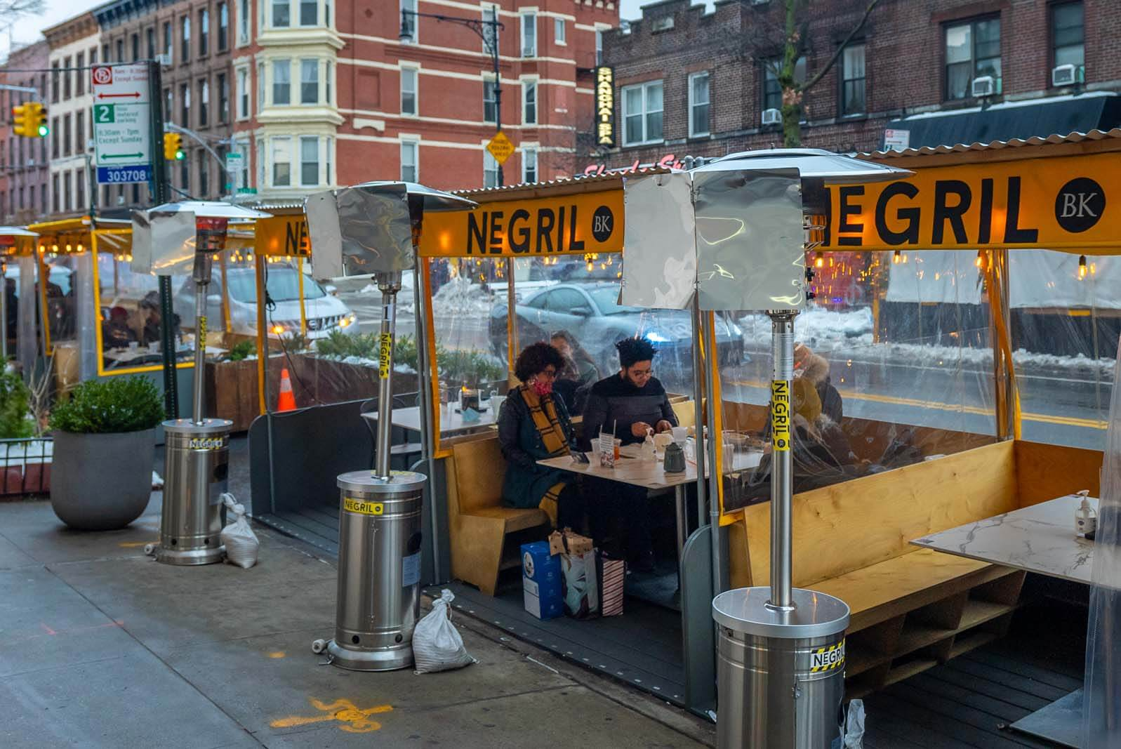 Negril BK heated outdoor dining in Brooklyn Park Slope