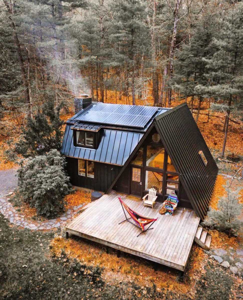 sustainable-a-frame-cabin-airbnb-in-new-york-catskills