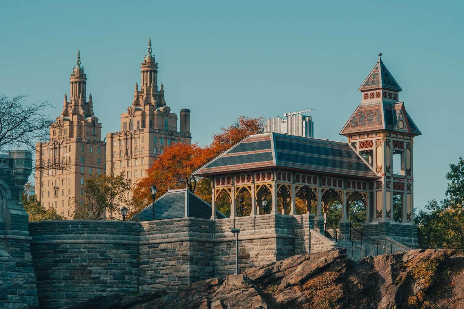 Belvedere Castle in Central Park in Manhattan New York City