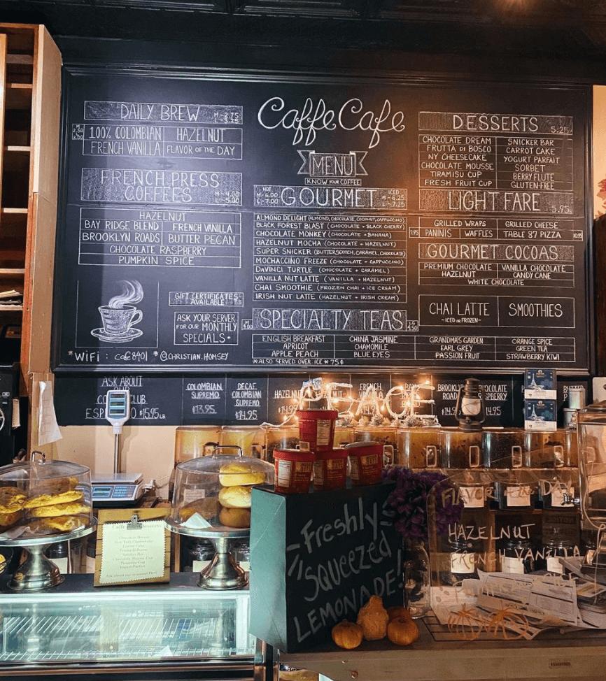 Caffé Café coffee shop in Bay Ridge Brooklyn by Quoffee Quest