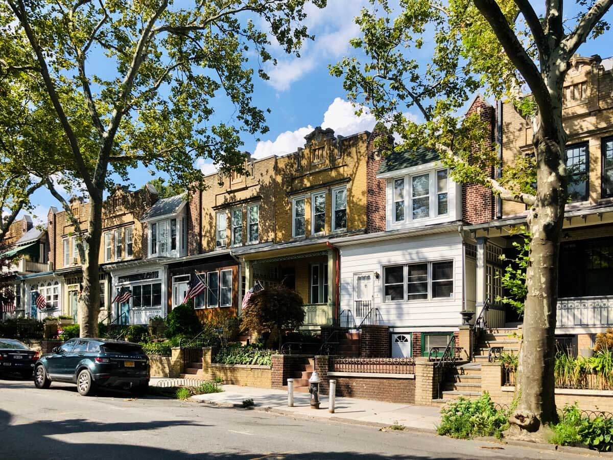 row-of-homes-with-pretty-porches-on-Windsor-Place-in-Windsor-Terrace Brooklyn