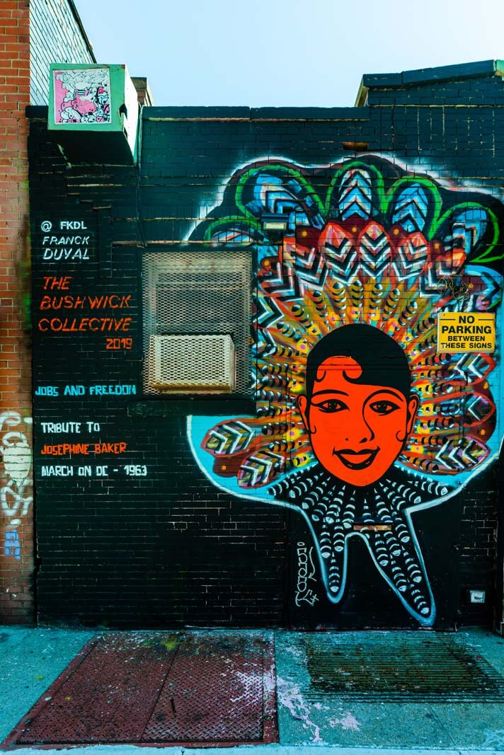 Bushwick Collective mural from 2019 in Bushwick