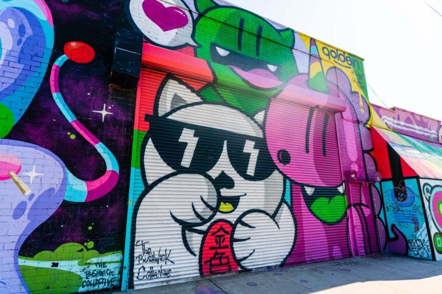 Bushwick Collective mural in Brooklyn
