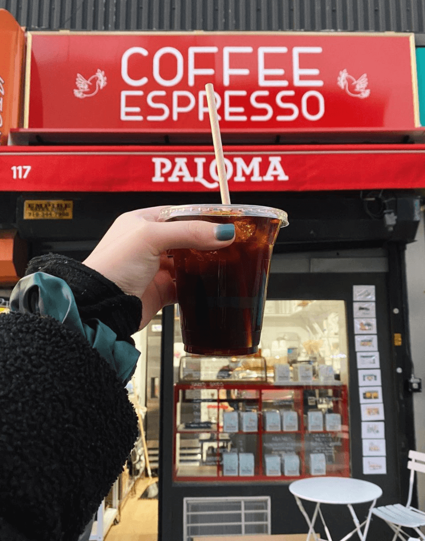Espresso Paloma cafe in Greenpoint Brooklyn quoffee quest