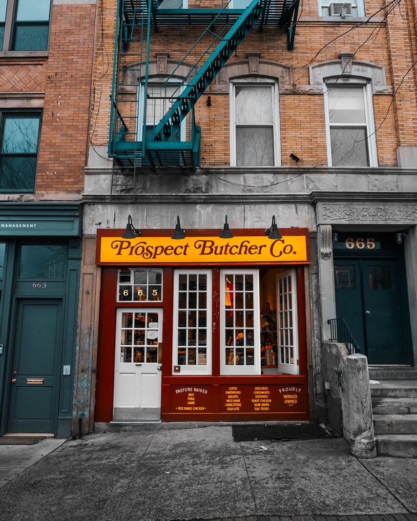 Prospect Butcher Co on Vanderbilt Ave in Prospect Heights