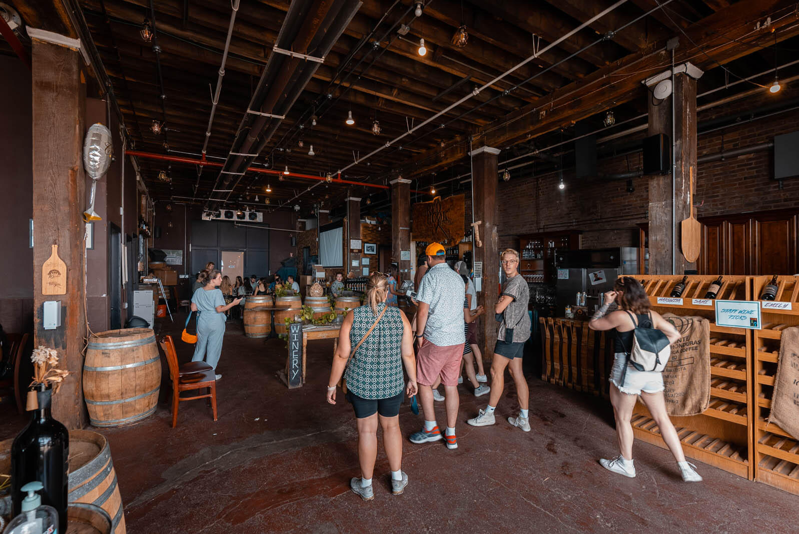 Red Hook Winery and tasting room in Brooklyn