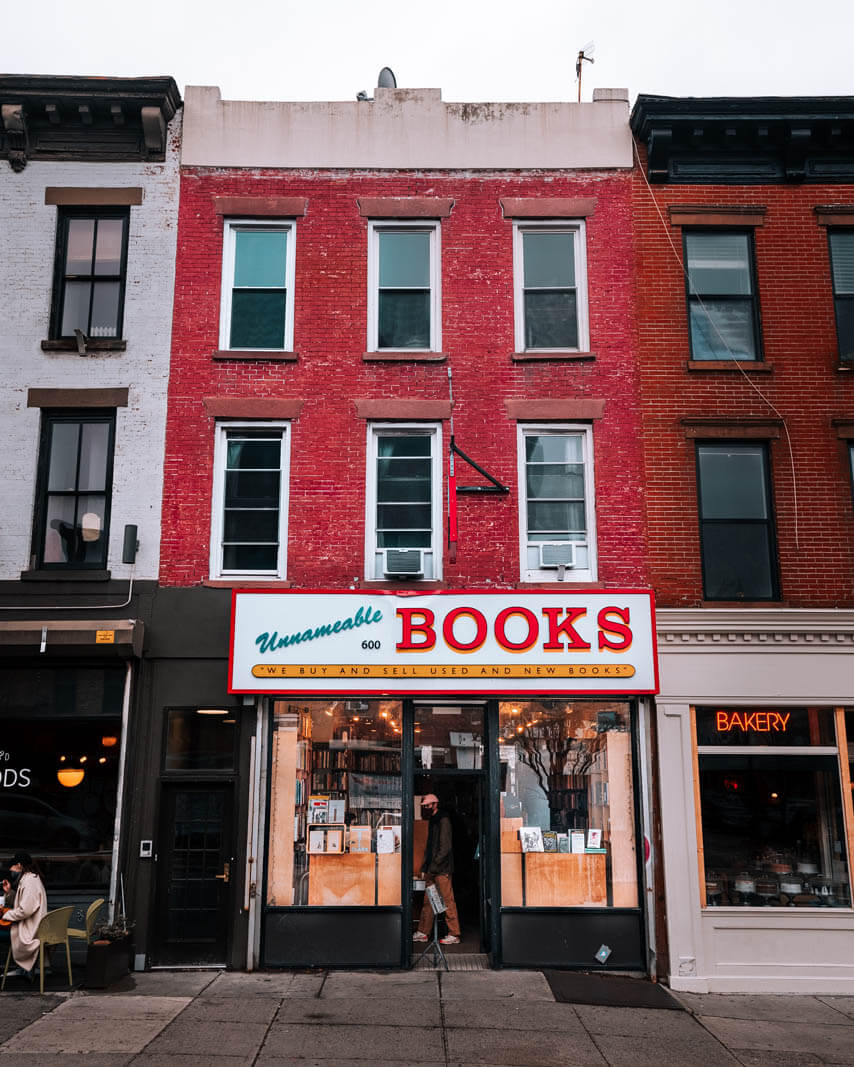 Unnameable Books on Vanderbilt Ave in Prospect Heights Brooklyn