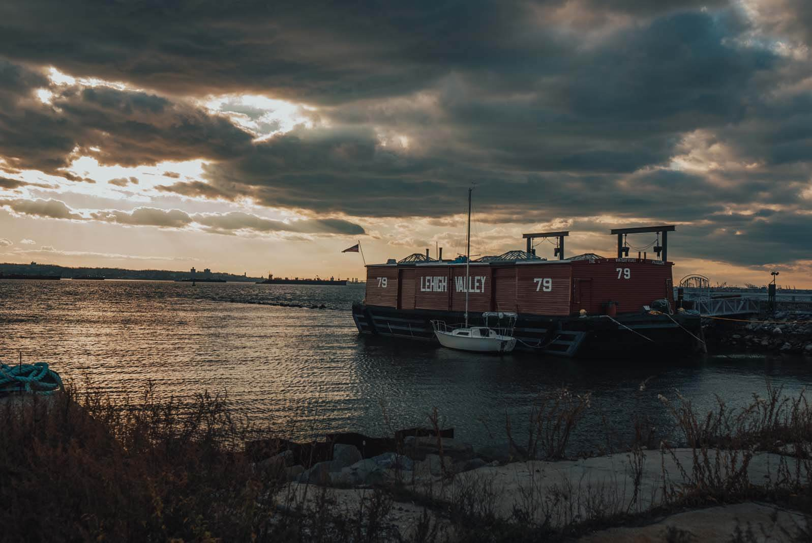 Waterfront Museum and Showboat Barge in Red Hook Brooklyn