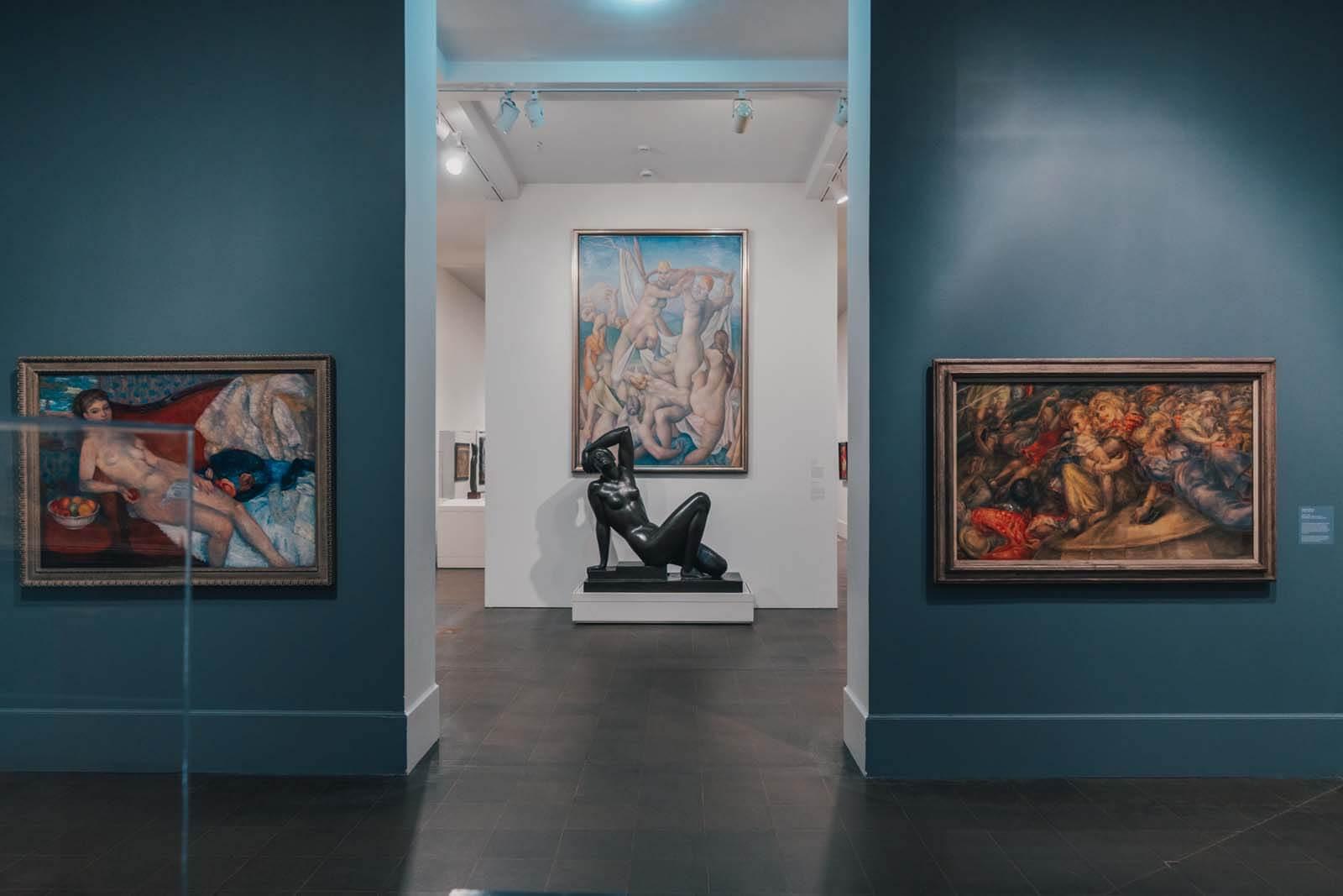 gallery inside the Brooklyn Museum