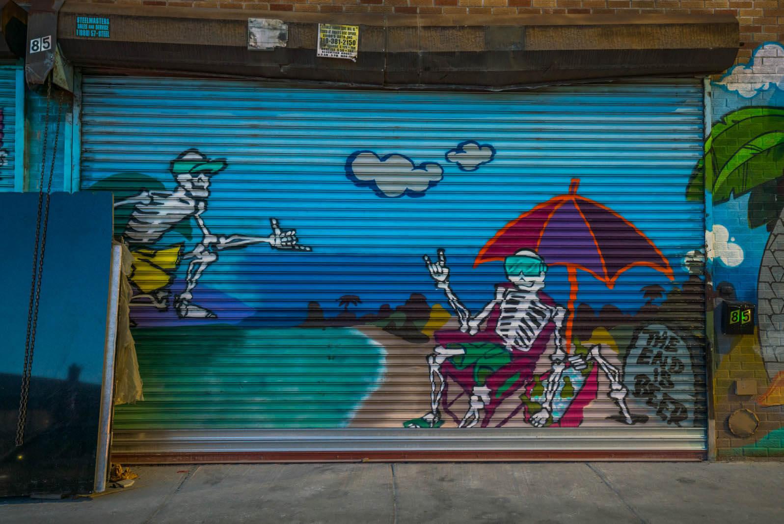 more Brooklyn street art walking from Bushwick to East Williamsburg on Knickerbocker Ave