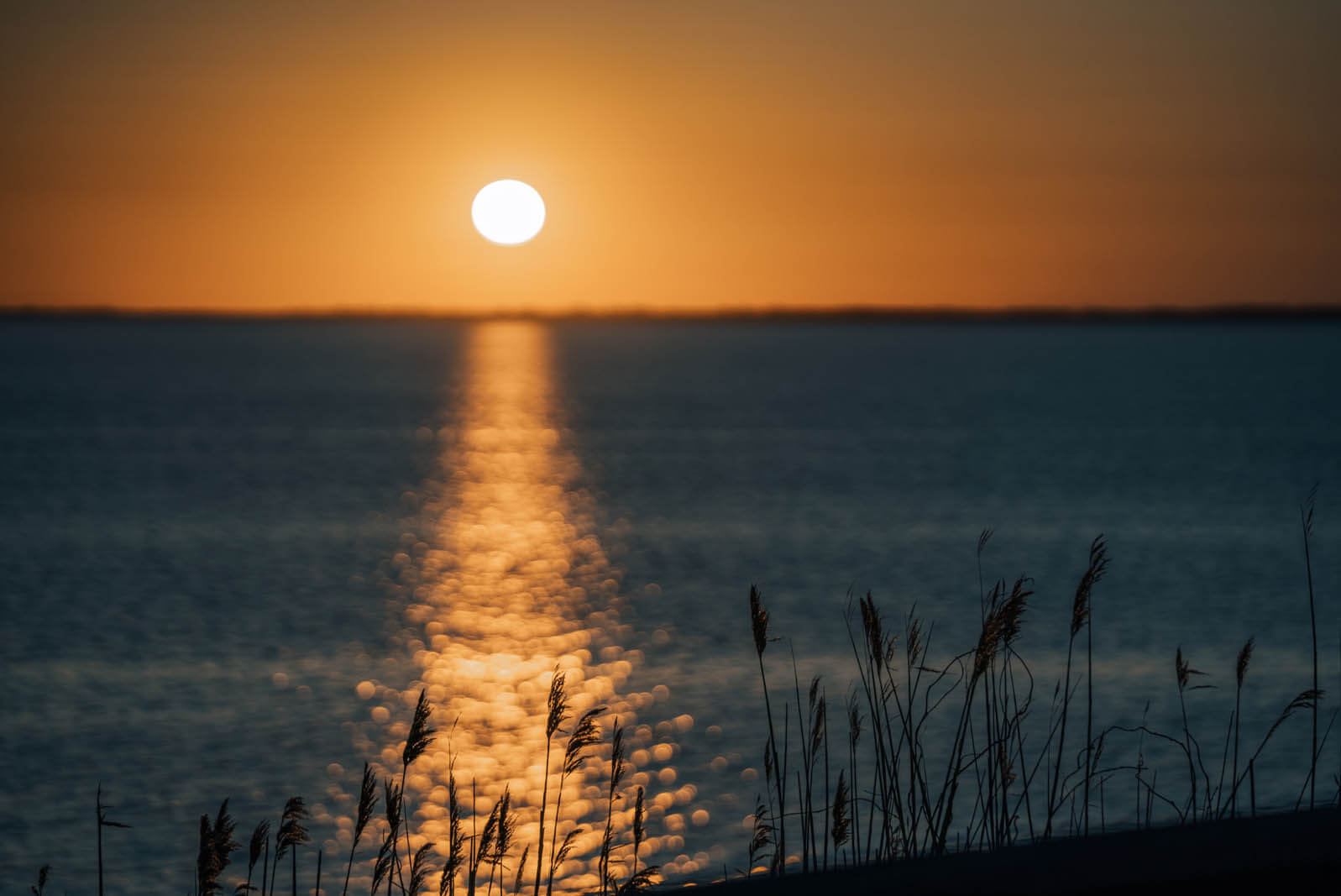 sunset view from Montauket in the Hamptons New York