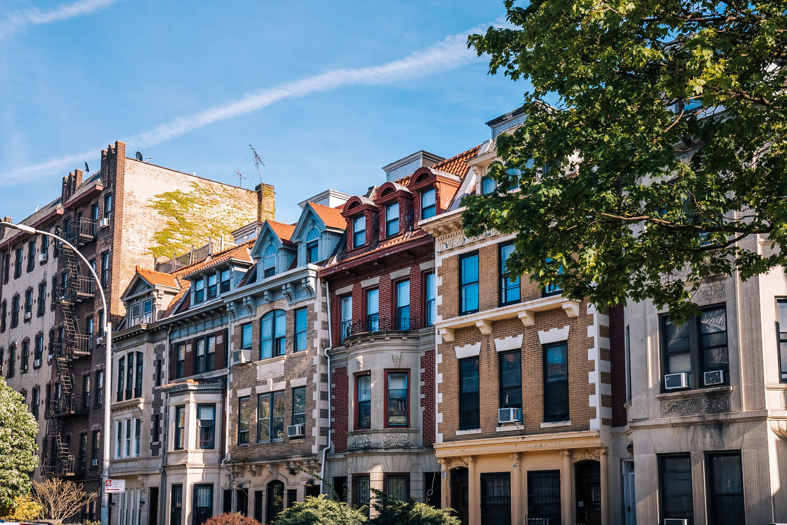 beautiful rowhouses in Prospect Lefferts Garden Historic District Brooklyn