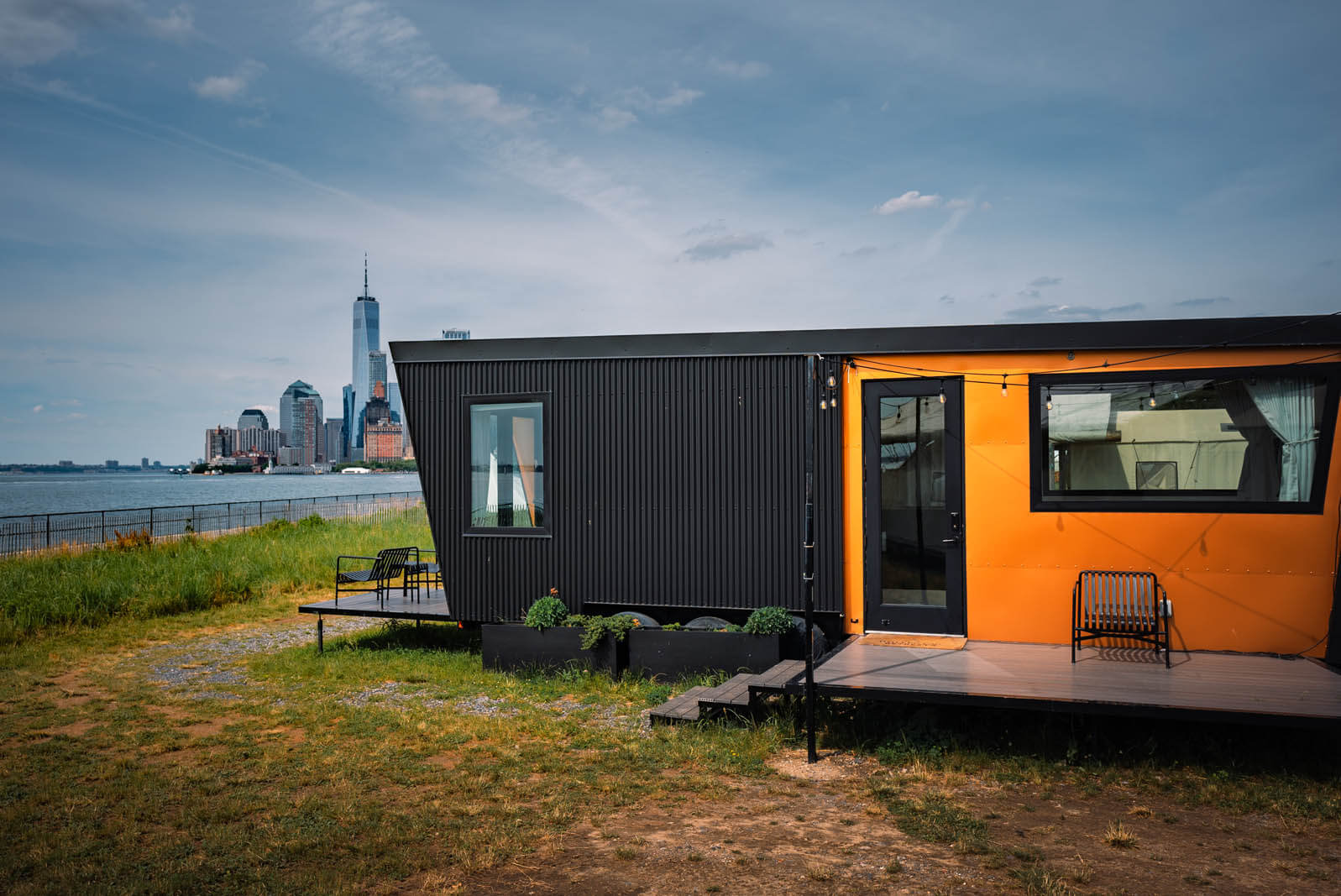 Outlook Shelter glamping at Governors Island in NYC with Collective Retreats
