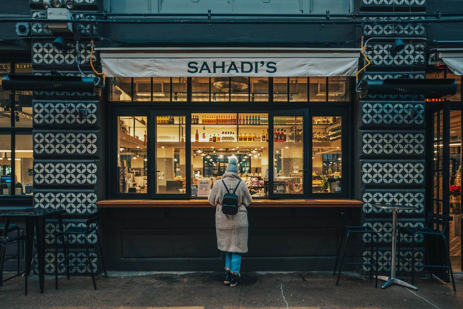 Sahadis Bar at Industry City in Brooklyn