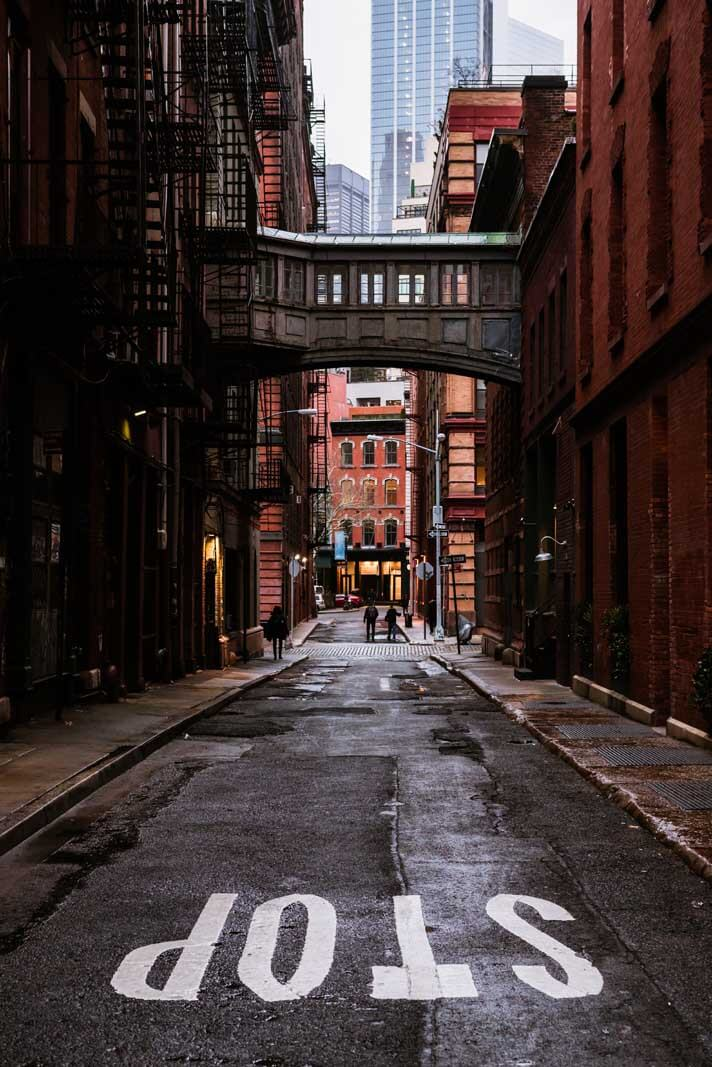 Staple Street Skybridge in Tribeca Manhattan a hidden gem in NYC