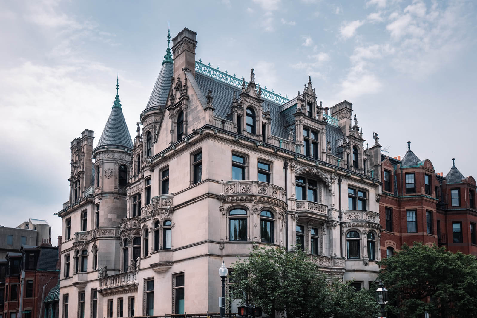 beautiful mansion in Back Bay Boston