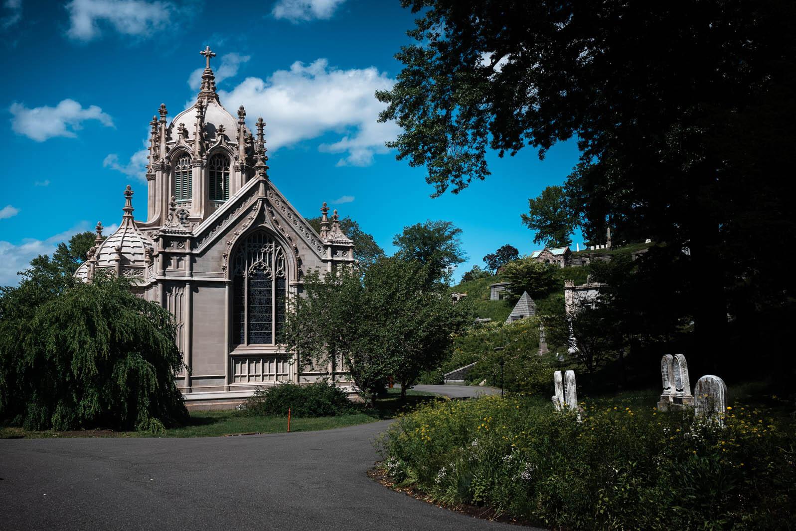 Greenwood Cemetery Chapel in Sunset Park Brooklyn